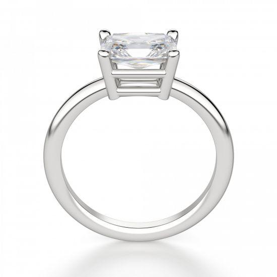 Кольцо с горизоонтальным бриллиантом Радиант,  Больше Изображение 2