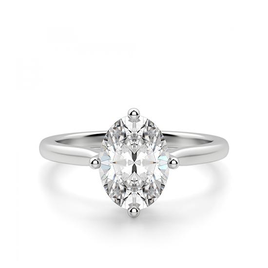 Кольцо с овальным бриллиантом в 4 лапках, Больше Изображение 1