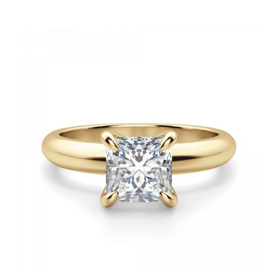 Кольцо с бриллиантом Принцесса классика, Больше Изображение 1