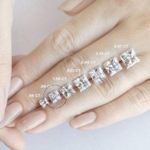 Кольцо с бриллиантом Принцесса классика 1 карат - Фото 2