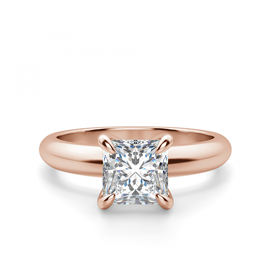 Кольцо с бриллиантом Принцесса из золота, Больше Изображение 1