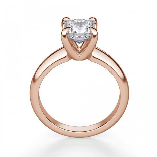 Кольцо с бриллиантом Принцесса из золота,  Больше Изображение 3