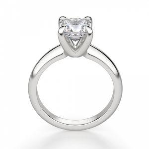 Кольцо с бриллиантом Принцесса из белого золота