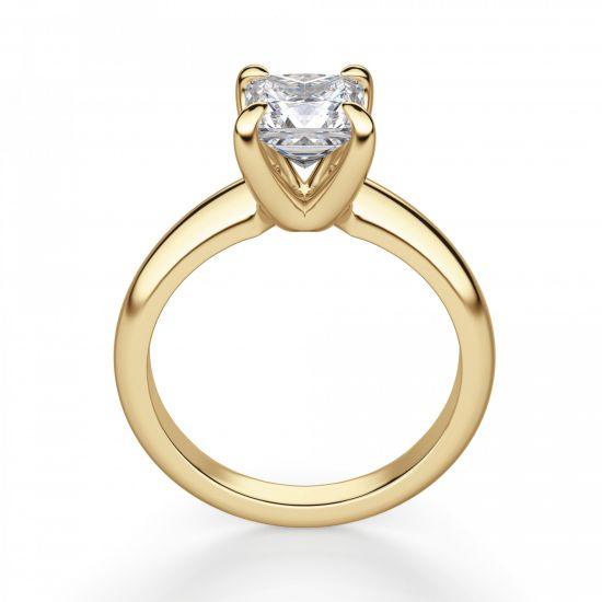 Кольцо с бриллиантом Принцесса классика,  Больше Изображение 3