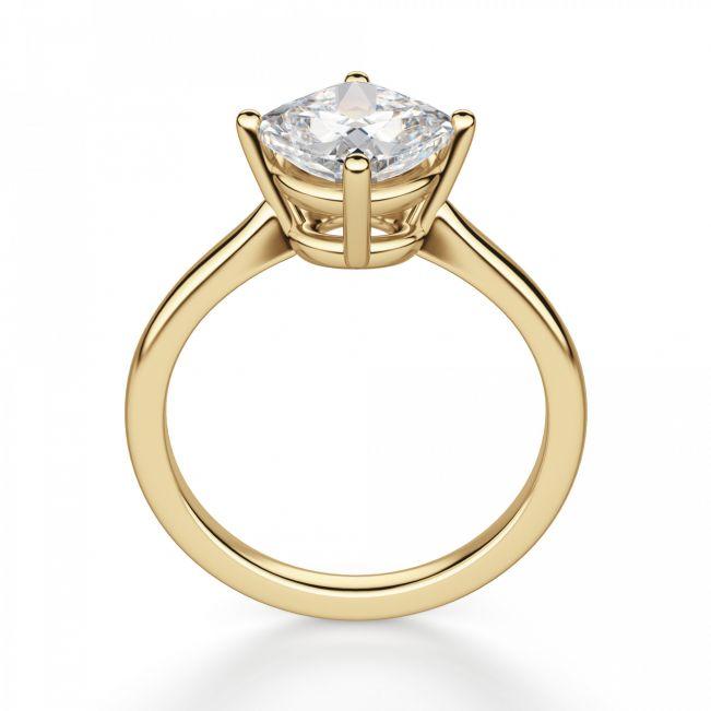 Кольцо с перевернутым бриллиантом формы Кушон