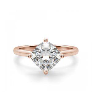 Кольцо с перевернутым бриллиантом Кушон