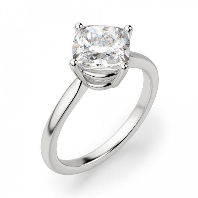 Кольцо с перевернутым бриллиантом огранки Кушон