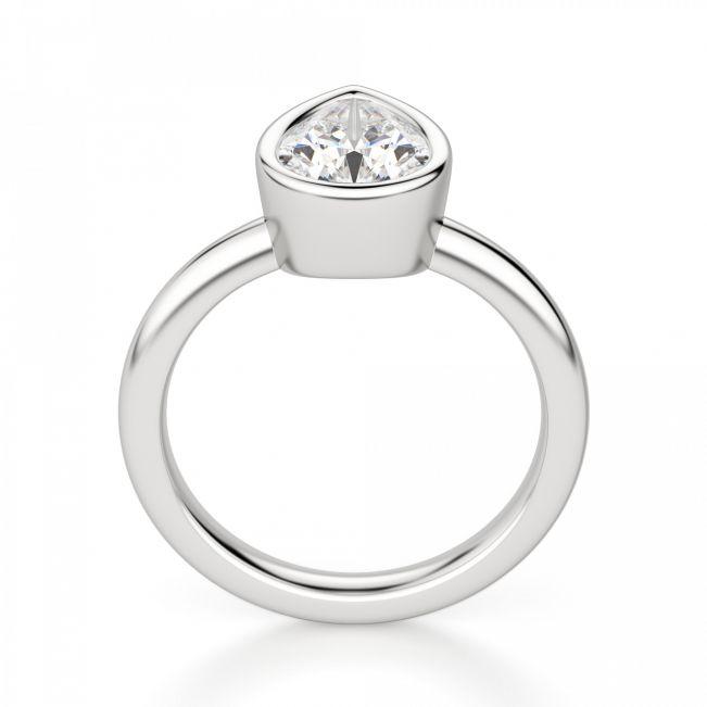 Кольцо с бриллиантом Груша в золоте