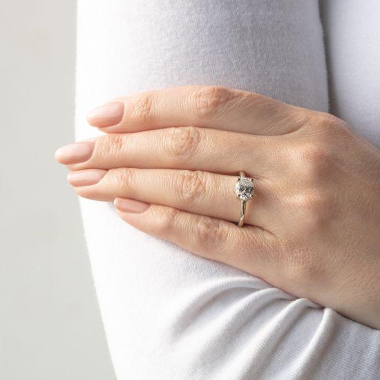 Кольцо с перевернутым овальным бриллиантом,  Больше Изображение 7