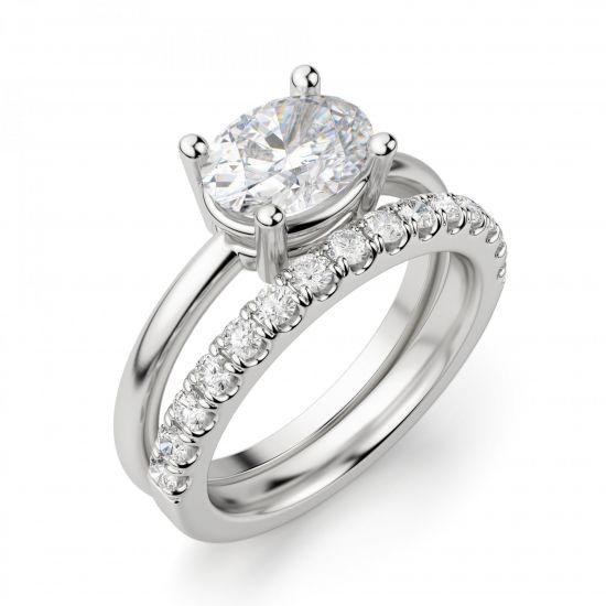 Кольцо с перевернутым овальным бриллиантом,  Больше Изображение 5