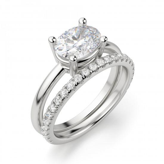 Кольцо с перевернутым овальным бриллиантом,  Больше Изображение 6