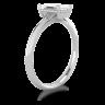 Кольцо солитер с бриллиантом огранки «изумрудная», Изображение 2