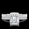 Кольцо солитер с бриллиантом огранки «изумрудная», Изображение 3