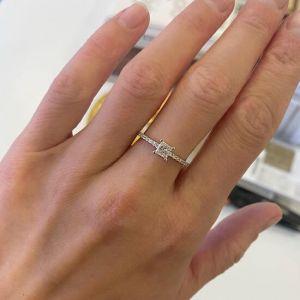 Кольцо с квадратным бриллиантом 0.40 карат - Фото 1