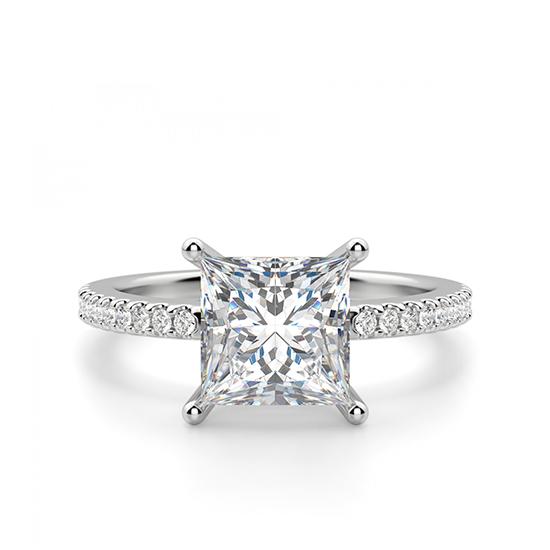 Кольцо с квадратным бриллиантом Принцесса, Больше Изображение 1