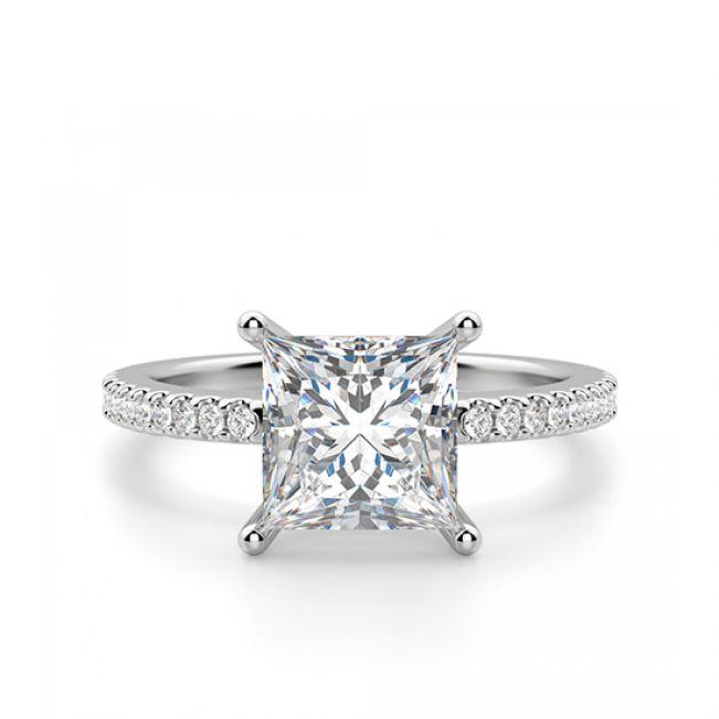 Кольцо с квадратным бриллиантом Принцесса