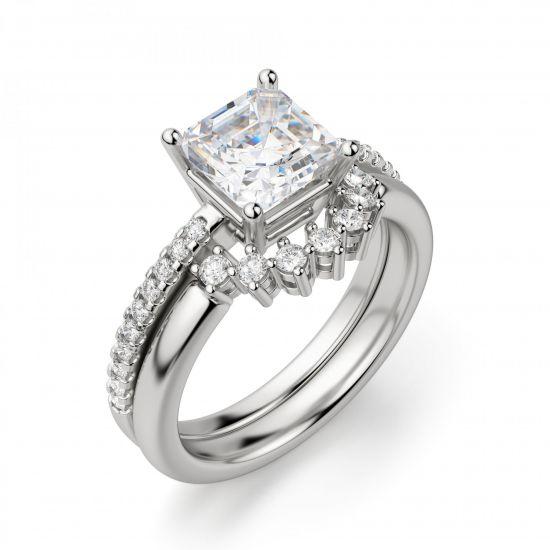 Кольцо с квадратным бриллиантом Принцесса,  Больше Изображение 3