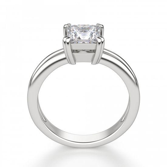 Двойное кольцо с бриллиантом Принцесса,  Больше Изображение 2