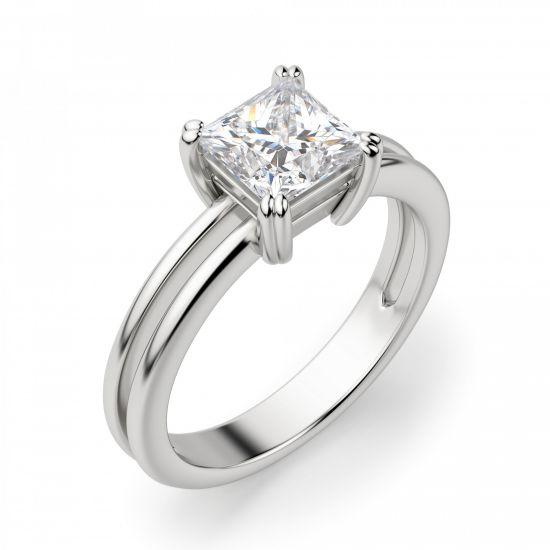 Двойное кольцо с бриллиантом Принцесса,  Больше Изображение 3