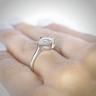 Кольцо с бриллиантом огранки Принцесса, Изображение 4