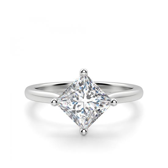 Кольцо с бриллиантом огранки Принцесса, Больше Изображение 1
