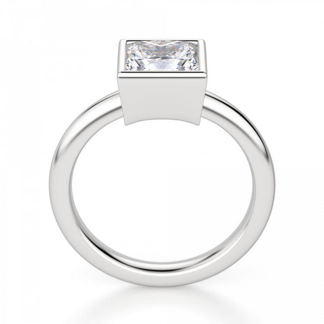 Кольцо с бриллиантом огранки «принцесса» в грухой закрепке - Фото 1
