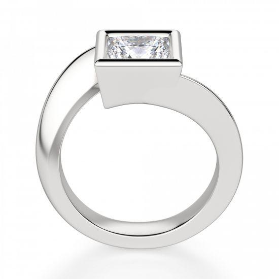 Кольцо Твист из золота с бриллиантом Принцесса,  Больше Изображение 2