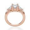 Кольцо с 3 бриллиантами из розового золота, Изображение 2