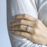 Кольцо с 3 бриллиантами из розового золота, Изображение 4