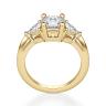 Кольцо с 3 бриллиантами из желтого золота, Изображение 2