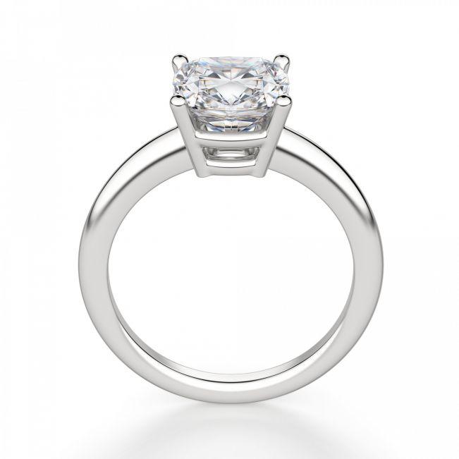 Кольцо солитер с бриллиантом огранки кушон - Фото 1