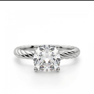 Кольцо с бриллиантом Кушон