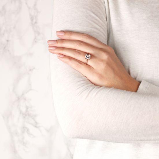Кольцо канат с бриллиантом Кушон,  Больше Изображение 7