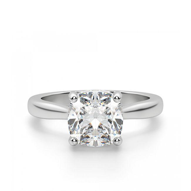 Золотое кольцо с бриллиантом огранки кушон