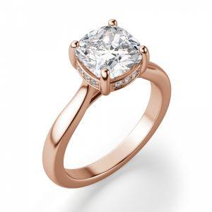 Кольцо с бриллиантом Кушон из золота