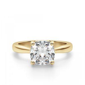 Золотое кольцо с бриллиантом Кушон из золота
