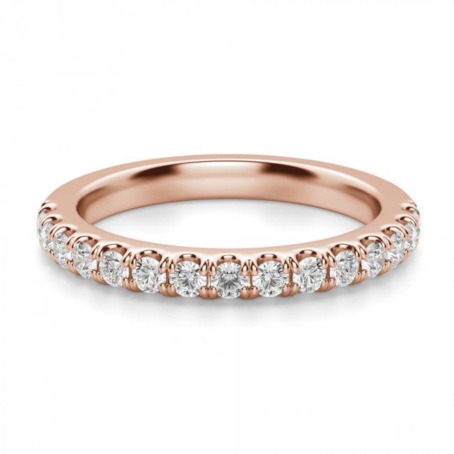 Кольцо дорожка с 15 бриллиантами на половину кольца - Фото 1