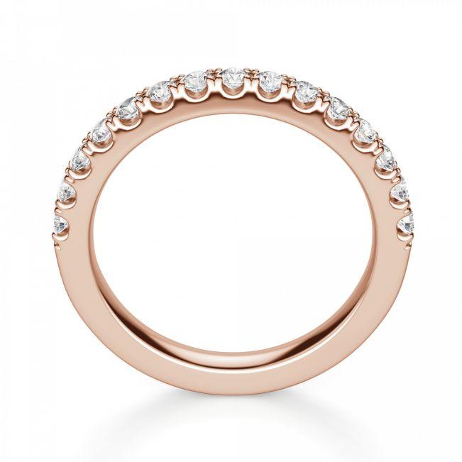 Кольцо дорожка с 15 бриллиантами на половину кольца - Фото 2