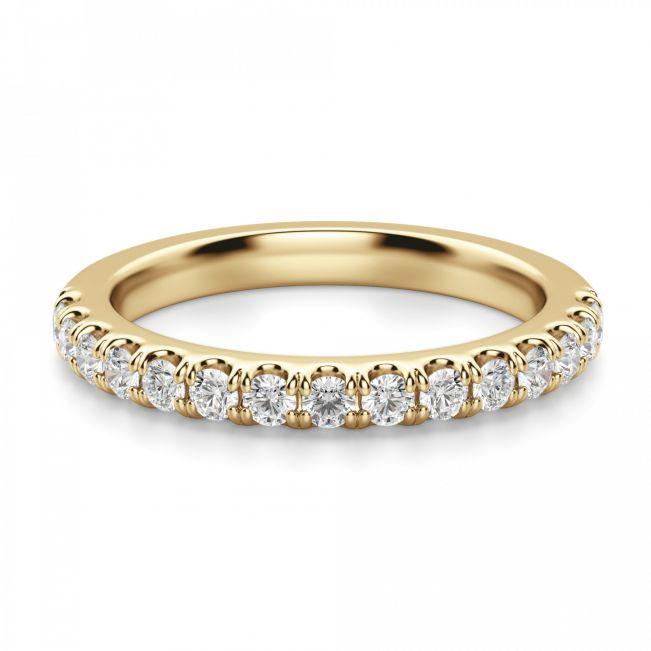 Кольцо полудорожка с 15 бриллиантами - Фото 1