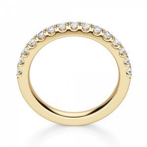 Кольцо полудорожка с 15 бриллиантами