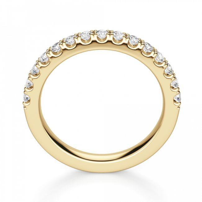 Кольцо полудорожка с 15 бриллиантами - Фото 2
