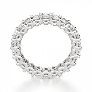 Кольцо дорожка с бриллиантами по кругу