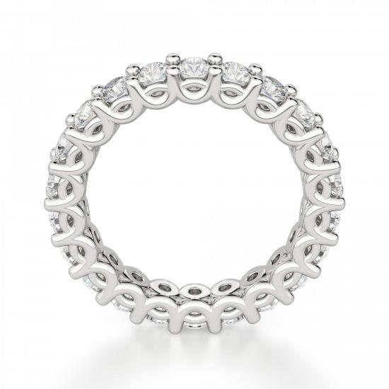 Кольцо дорожка с белыми бриллиантами по кругу,  Больше Изображение 2