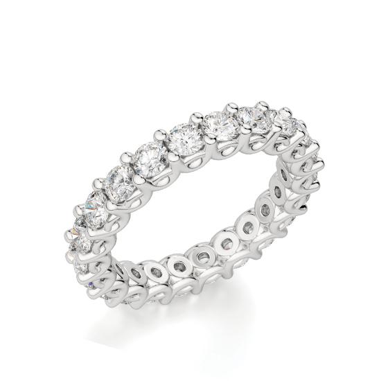 Кольцо дорожка с белыми бриллиантами по кругу, Больше Изображение 1