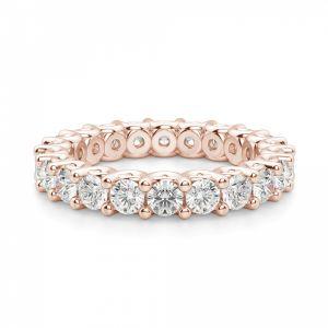 Кольцо дорожка с бриллиантами из розового золота - Фото 2