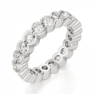 Оригинальное кольцо дорожка с бриллиантами по кругу