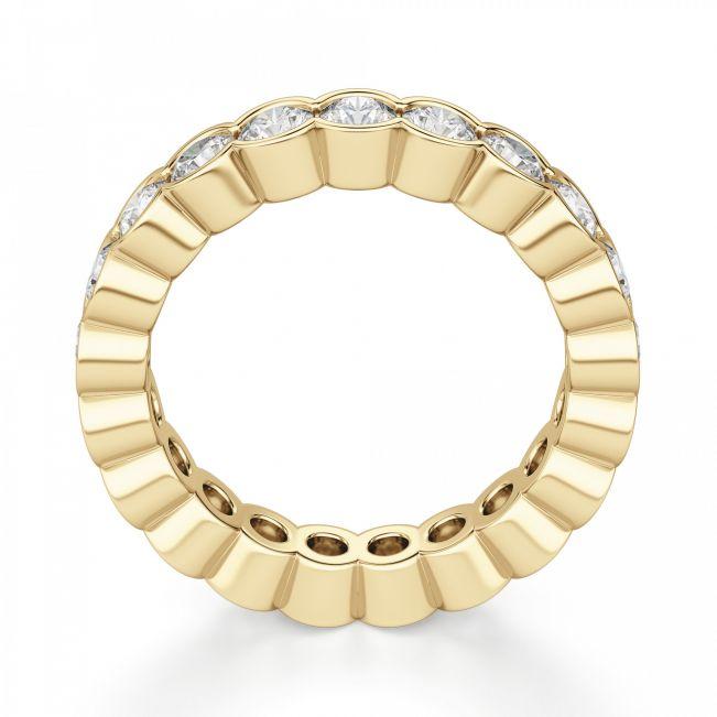 Кольцо из золота дорожка с бриллиантами по кругу
