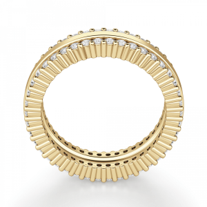 Кольцо из золота с двойной дорожкой из бриллиантов