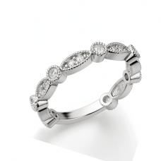 Кольцо дорожка с бриллиантами ажурное