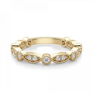 Ажурное кольцо дорожка с бриллиантами из золота
